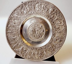 PEWTER PLATE CHARGER EMPEROR FERDINAND II ON HO... - $157.53