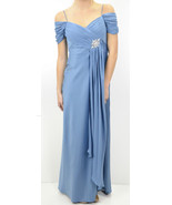 NWT Alex Evenings Blue Pleated Bust Crystal Sno... - $216.00