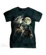The Mountain T-Shirt Three Wolf Moon Classic La... - $22.54 - $23.64