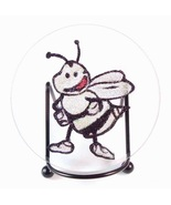 Glitter Bee Plaque Stand Beveled Glass Collecti... - $9.99