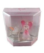 Lovinbox Pink Angel & Votive Holder on Mirror S... - $16.99