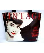 Audrey Hepburn Vintage Classic Wide Tote Should... - $30.00