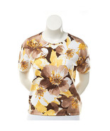 Alfred Dunner Capetown Short Sleeve Sweater Top... - $24.74