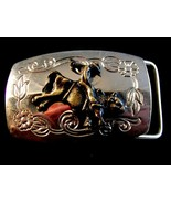 Bullrider belt buckle two tone - $15.79