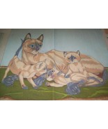 Lot 20 Large Artex pictures finished & partly done - $29.69