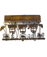 Cafe Bistro Wall Decor Curtis Jere Style Copper... - $50.00