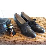 Vintage 1930's-40's Little Witch Shoes Black Le... - $55.00