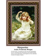 Marguerites, Fine Art Counted Cross Stitch Pattern - $32.00