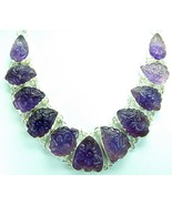 Abstract Carved Teardrops of Purple Amethyst St... - $302.71