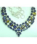 Golden Purple Ametrine Ovals + Amethyst Teardro... - $325.94