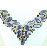 Cushion Faceted  Oval + Teardrop Purple Amethys... - $307.36