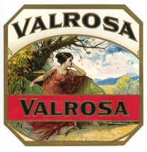 Valrosa vintage cigar label gold embossed prett... - $9.00