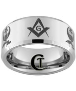 Tungsten Wedding Bands 10mm Beveled Masonic Shr... - $49.00