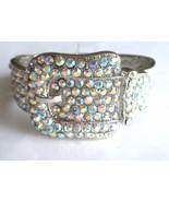Crystal Buckle Woman's Bracelet AB Pave Magneti... - $22.74