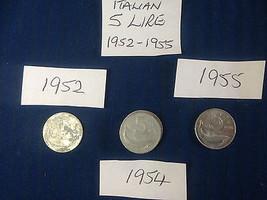 5 Five Lire Lira Italian Italy Coin Hunt Alumin... - $3.91 - $5.89