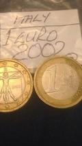 Italian One 1 Euro Coins Italy European 2002  - $3.91