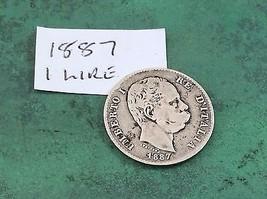 1 Lire Coins Italy 1840 - 1899 Italian  - $68.45