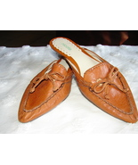 NICOLE Cognac Soft Leather Mule/Slide from Braz... - $24.99
