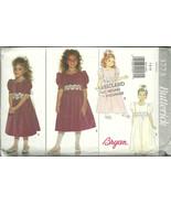Butterick Sewing Pattern 3773 Girls Party Dress... - $12.98