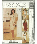 McCall's Sewing Pattern 3578 Misses Womens Dres... - $14.98