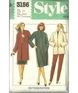 Style Sewing Pattern 3156 Misses Womens Coat Ja... - $19.99