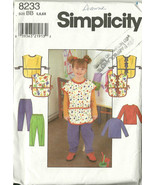 Simplicity Sewing Pattern 8233 Girls Smock Top ... - $9.98
