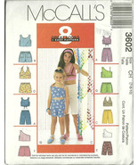 McCall's Sewing Pattern 3602 Girls Shorts Top S... - $9.98