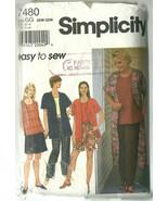 Simplicity Sewing Pattern 7480 Misses Womens Ja... - $12.98