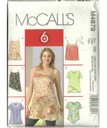 McCall's Sewing Pattern 4879 Misses Womens Top ... - $12.98