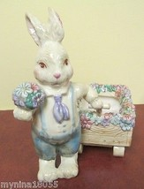 Dept 56 Ceramic Springtime Rabbit with Flower T... - $48.50