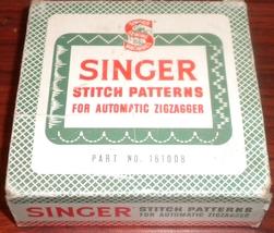 Singer Stitch Patterns For Zig Zagger Part #161... - $20.00
