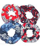 4 New England Patriots Fabric Hair Scrunchie Sc... - $23.95