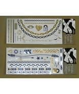 Two Sheets Temporary Metallic Flash Tattoos NIP - $9.99