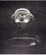 Clear Glass Pebble 2 1/4 in Bell Light Shade Ce... - $10.00