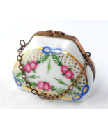 Limoges Box - Floral and Gold Purse & Chain - H... - $75.00