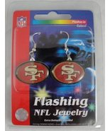 San Francisco 49ers Flashing LED Earrings  	 - $12.00