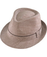 Henschel Linen Cotton Blend Gentleman Fedora Li... - $44.00