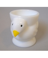 Egg Cup Opalex White Milk Glass Chicken Hen Bir... - $12.00