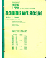 "NEW Boorum Pease Accountant Work Sheet Pad 8 ½""... - $7.91"