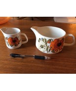 Vintage J&G MEAKIN poppy flower England Ironsto... - $39.99