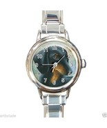 Italian Charm Watch from art painting Dog 90 bl... - $14.99