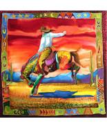 Desert Rein Dance by Nancy Cawdrey Western Cowg... - $147.51