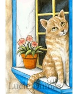ACEO art print Cat #303 OE by Lucie Dumas - $4.99