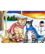 ACEO art print Cat #318 OE by Lucie Dumas - $4.99