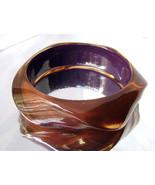 Vintage Clear Ice Tea Lucite Bracelet Wavy Free... - $48.00