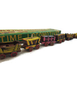 Old Time Locomotive Train Hand Carved Decorated... - $15.00