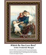 Which Do You Love Best?, Fine Art Counted Cross... - $39.00