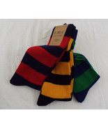Hanes Men's Assorted Striped Rugby Crew Socks  ... - $16.03