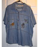 Women's 22W Lemon Grass Safari Design Shirt - ... - $14.99