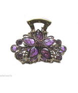 Purple Rhinestone Metal Hair Claw Clip HC114 PPL - $13.85